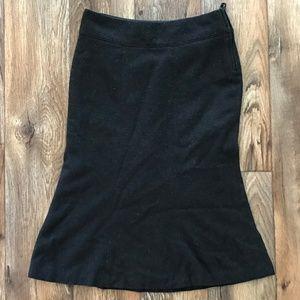 Dark Brown H&M Tweed Midi skirt Sz 4